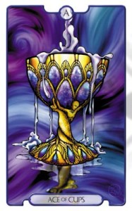 Ace of Cups from Revelations Tarot Deck