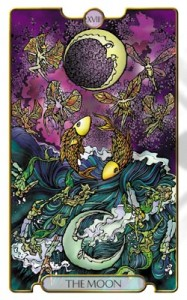 The Moon from Revelations Tarot Deck