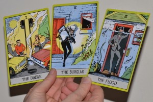 Fake Tarot cards used in an insurance advertising campaign