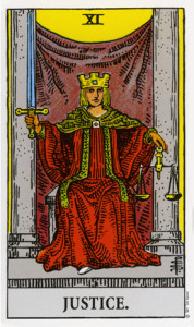 Justice from Rider Waite Tarot
