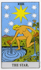 The Star from Rider Waite Tarot