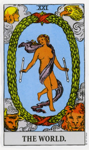 The World from Rider Waite Tarot