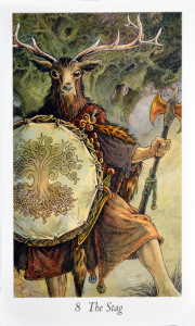 The Stag from the Wildwood Tarot Deck