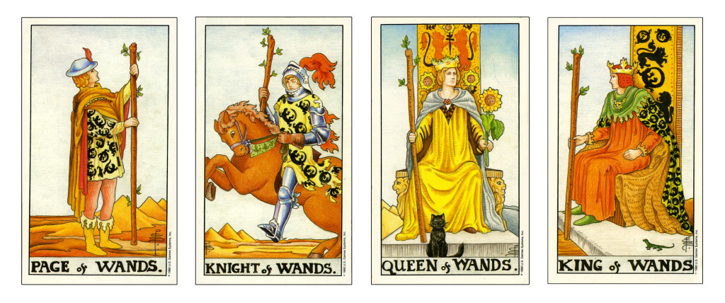 court cards from the suit of wands