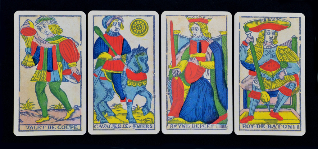 Suits of the Tarot de Marseilles deck