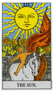 The Sun card of the Tarot